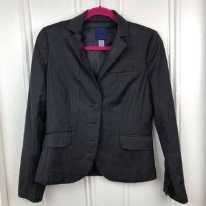J.Crew pinstripe super 120s wool gray blazer work
